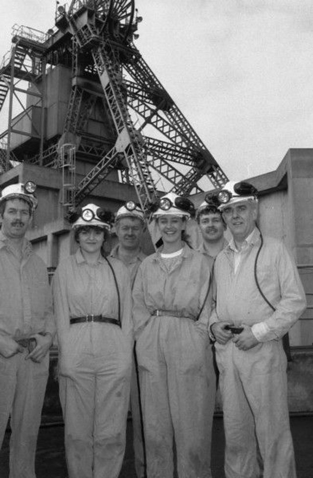 1991 Bilsthorpe Colliery visit by Notts Coal Queen