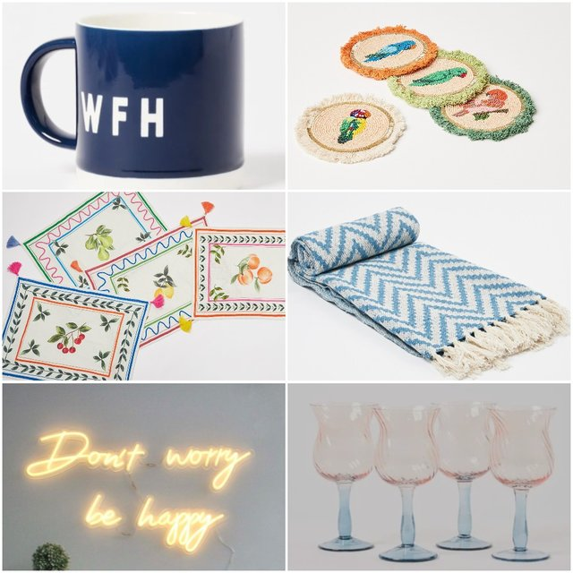 <p>Some of the homeware items on sale at Oliver Bonas</p>