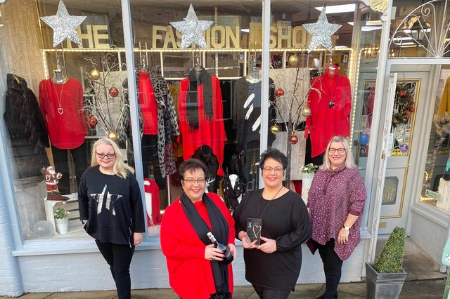 The Fashion Shop won the Independent Retailer Award at the Chad Business Excellence Awards 2020. Pictured are Claire Mortimer, Mandy Wilson, Bev Lilley and Caz Childerley.