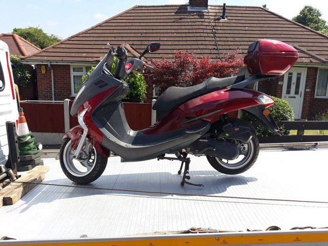 A 16-year-old had their bike seized by police after they were caught riding it in Sutton without a licence, tax or insurance. Photo: Notts Police/Facebook