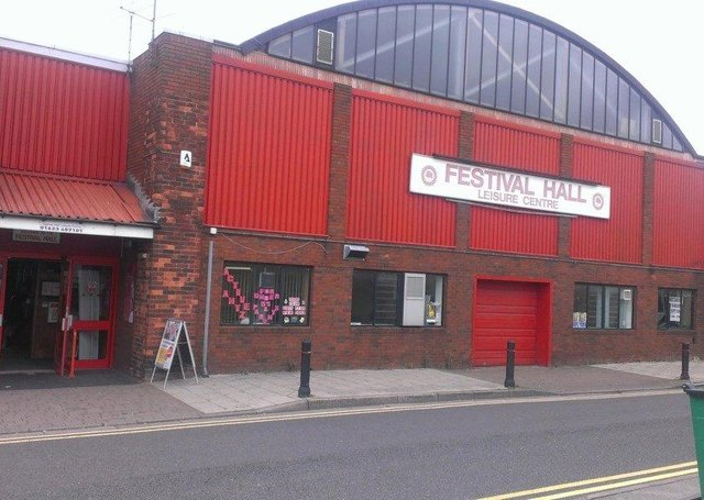Kirkby's Festival Hall, which will be replaced by the new leisure centre.