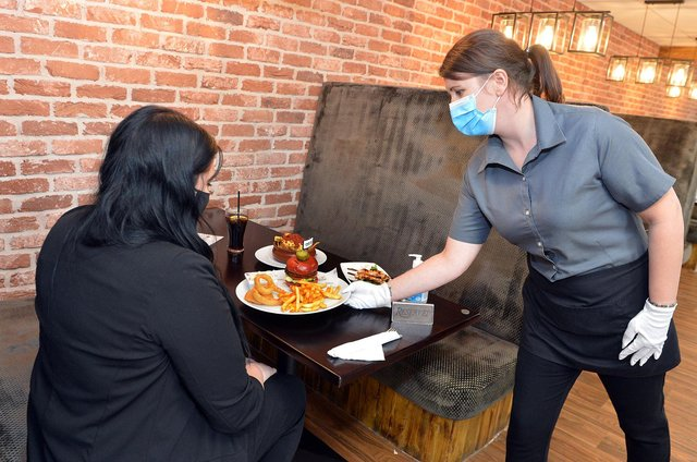 Customers were able to have their first indoor meal or drink in months.