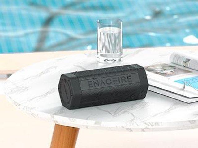 The waterproof Soundtank can be safely used by the pool. Image: ENACFIRE
