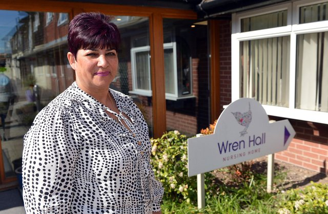 Anita Astle, manager of Wren Hall Nursing Home in Selston.