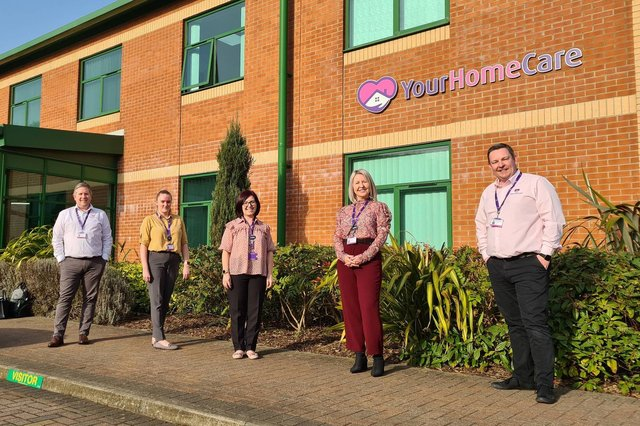The Your Home Care team, including Paul Pitchford, left, and Scott Marsh, right.