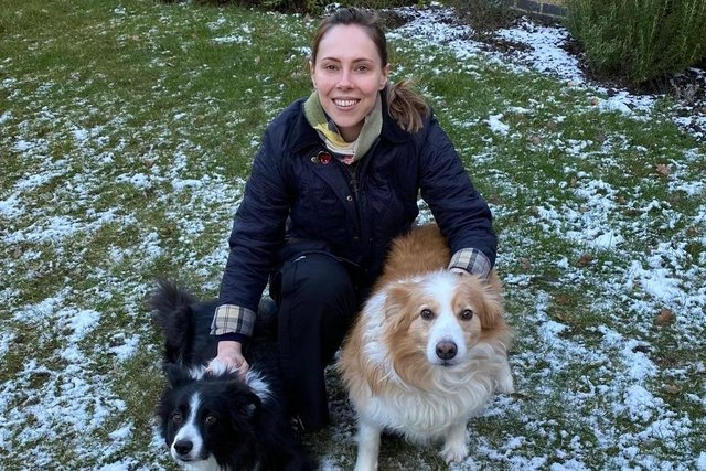 Emma Foody with her dogs