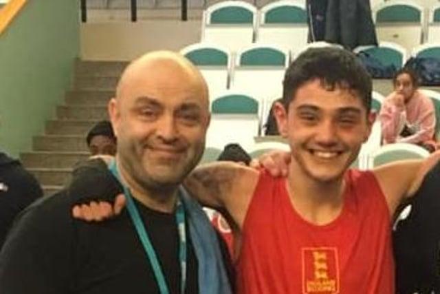 Nico Leivars with dad and coach Julian.