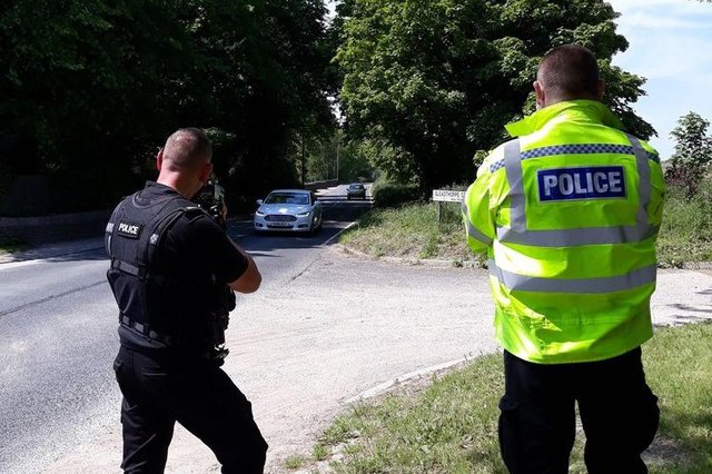 Police carried out speed checks at a number of sites across Mansfield district this week. Photo: Notts Police/Facebook.
