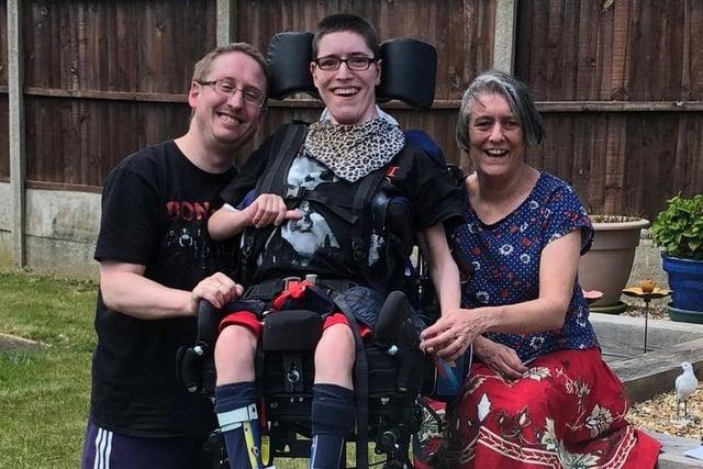 Happy Kieron Norton, ready to celebrate his 21st birthday with mum Sharon and dad Andrew.