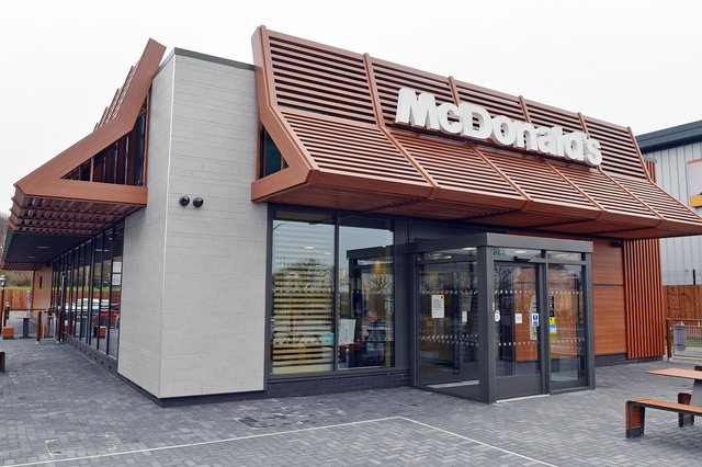 The latest McDonald's outlet in Mansfield, which opened at Oakleaf Close next to the Sherwood Oaks Business Park last month.