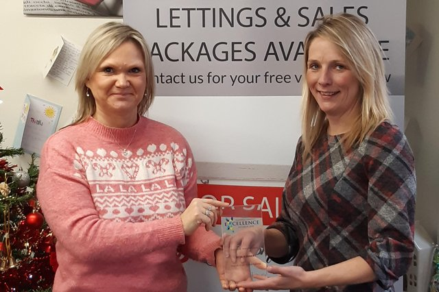 Julie Cotterill and Jessica Blacklock winners of Customer Service Award at last year's Chad Business Excellence Awards.