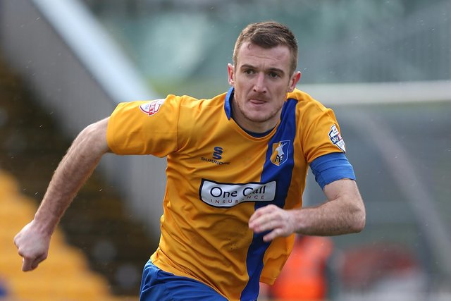 The late Lee Collins in Mansfield Town action. (Photo by Pete Norton/Getty Images)