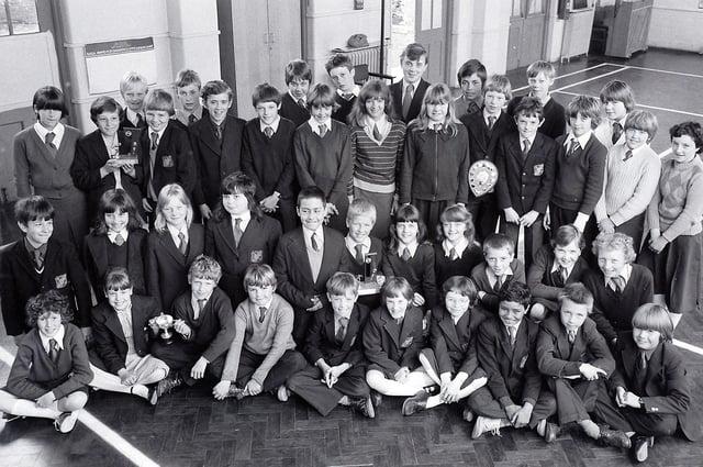 Bull Farm School Swimmers in 1981