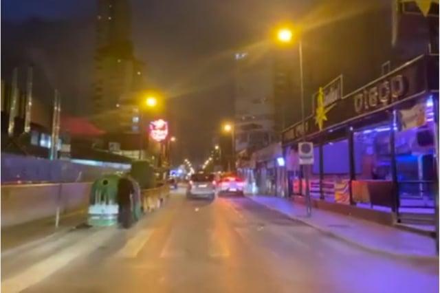 The deserted streets of Benidorm: Video: (Benidorm All Year Round).