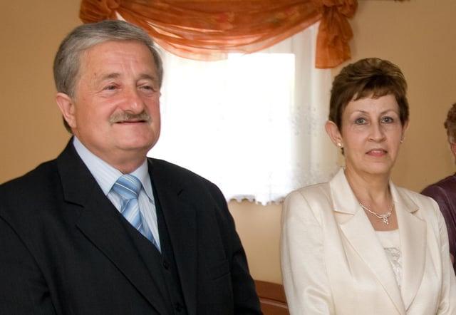 Zbigiew Pawlowski and his wife.
