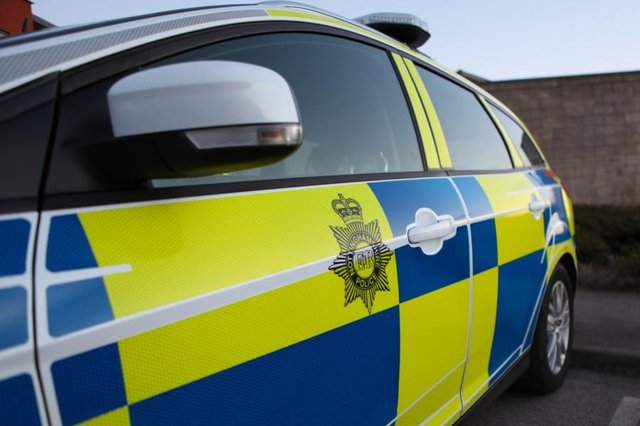 A tatty-looking car led inquisitive police officers to a disqualified driver, a quantity of drugs and a hidden knife. Photo: Notts Police