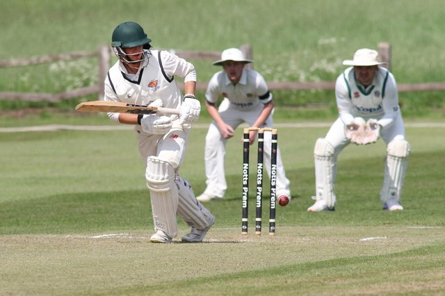 Nick Keast on his way to 65 against Radcliffe-on-Trent.