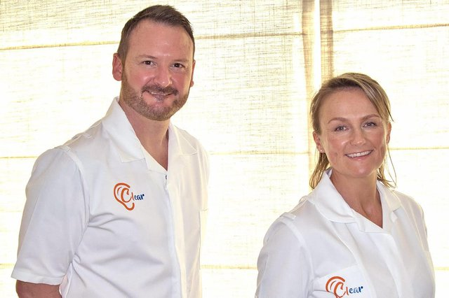 Richard Smith and Naomi White, who have set up Clear Ear Wax Solutions to cover the Mansfield and Ashfield area.
