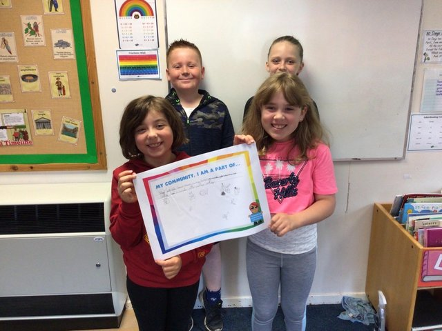 Youngsters at Crescent Primary School learn about community
