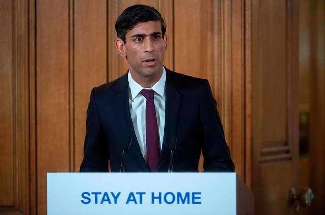 Chancellor of the Exchequer Rishi Sunak extended the furlough scheme until the end of September. (Photo by JULIAN SIMMONDS/POOL/AFP via Getty Images)