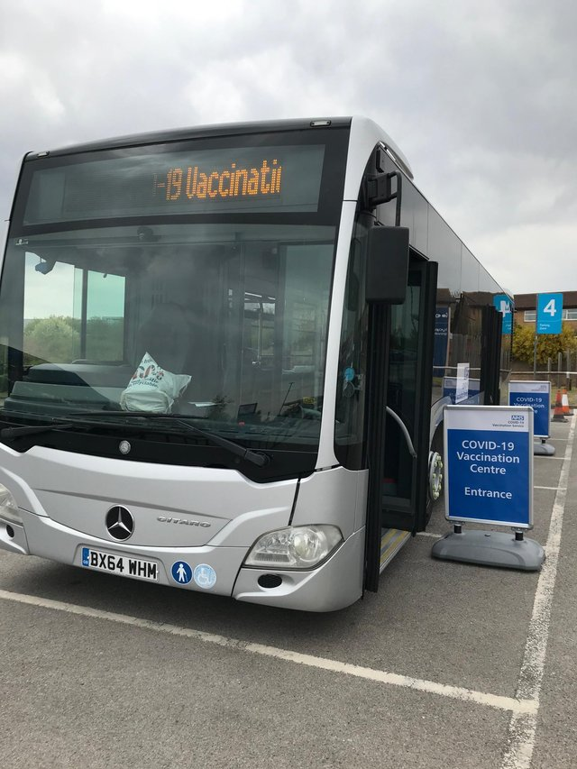 Covid 19 vaccination bus back in Mansfield on Monday