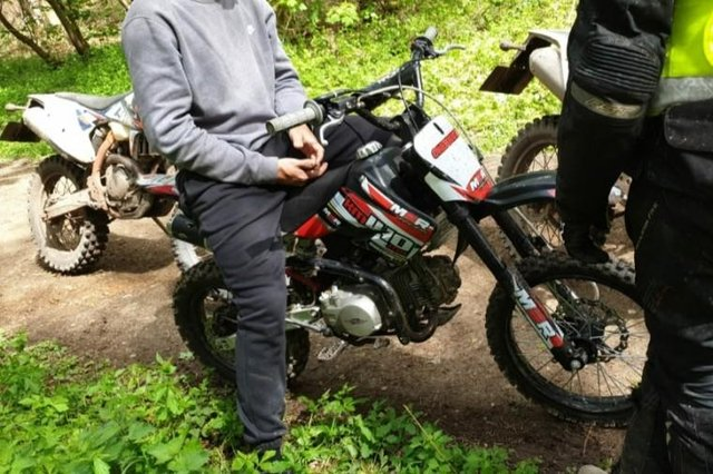 Police seized off-road bikes in a crackdown across Mansfield and Ashfield on Sunday. Photo: Nottinghamshire Police.