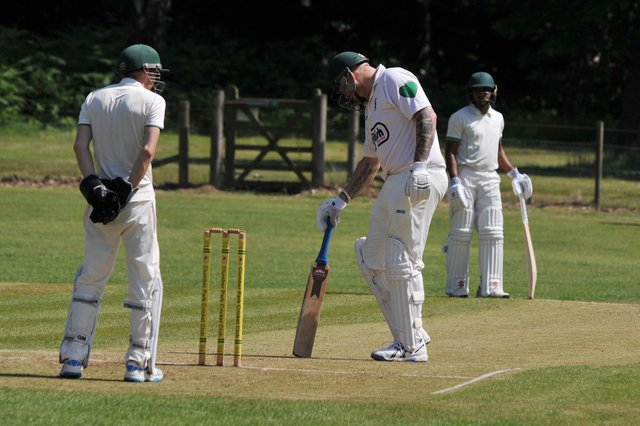 David Willcock - important innings for Clipstone.