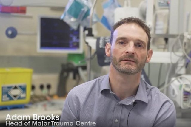 Adam Brooks is head of the East Midlands Major Trauma Centre based at the Queen's Medical Centre in Nottingham.