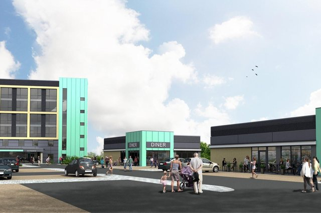 An artist impression of the new gateway in Mansfield town centre.