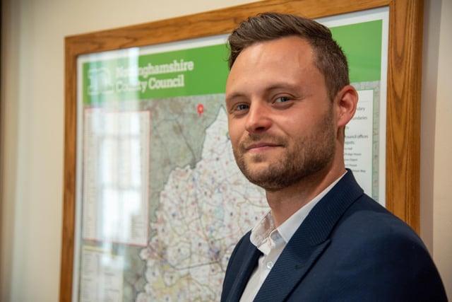 Coun Ben Bradley, leader of Nottinghamshire County Council.