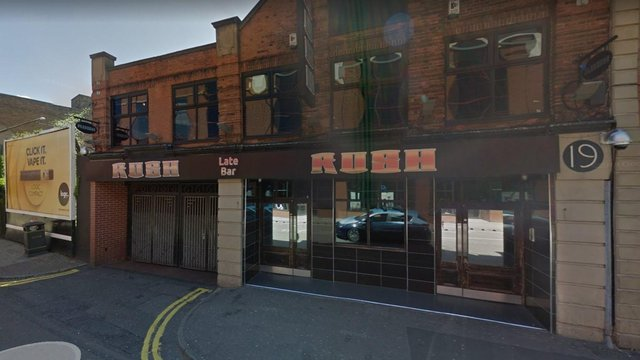 A man has been left with a broken cheekbone and eye socket after he was punched in the face in Rush nightclub in Mansfield.