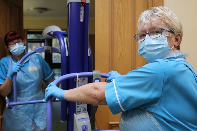 Staff at work at the John Eastwood Hospice in Sutton.