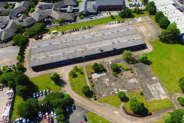 An aerial shot of The Patco Site on Lowmoor Road, Kirkby.