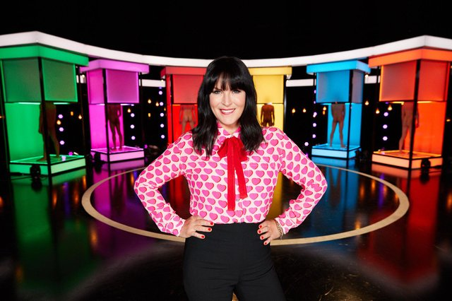 Anna Richardson hosting Naked Attraction.