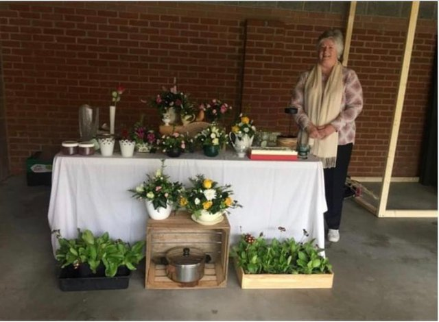 Warsop Inner Wheel members met in person for a Covid safe plant sale, tea and cakes