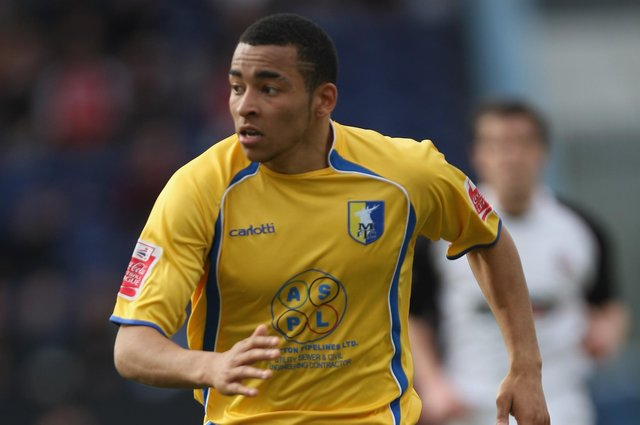 Nathan Arnold in Mansfield Town action.