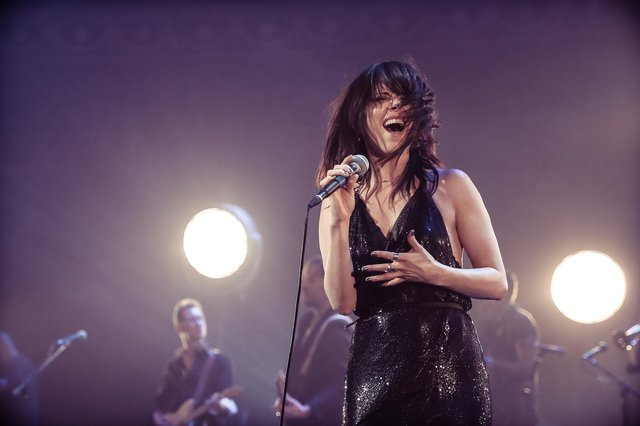 Imelda May is pictured in live action (Photo credit Christie Godwin)