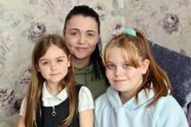 Sutton mum Claire Hannah with her two daughters. She says Double Impact saved her life.