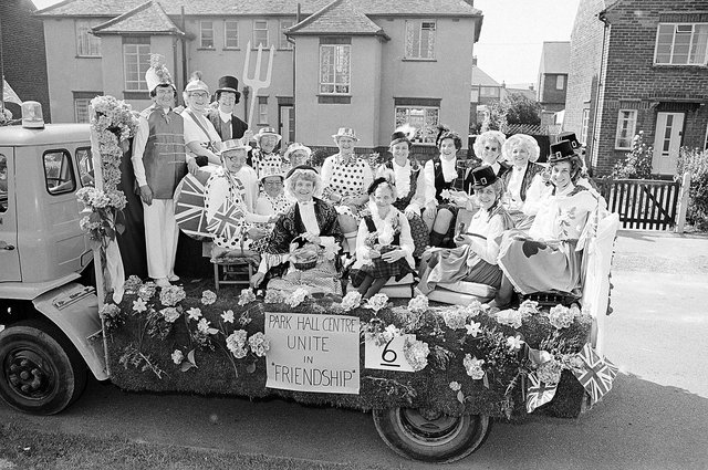 Do you recognise anyone from the Park Hall Centre float at the carnival?