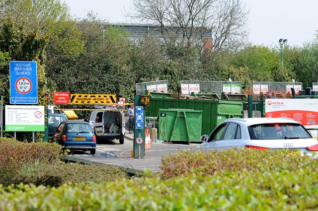 Mansfield Recycling Centre on Kestral Road in the town.