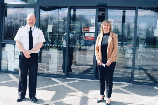 Chief Constable Craig Guildford and CEO of John Eastwood Hospice Trust, Sharon Williams