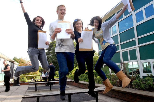 Who can you spot picking up their GCSE results in these retro snaps?