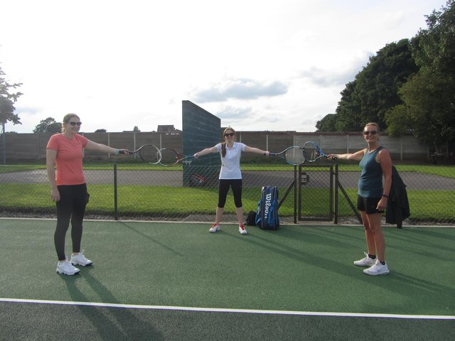 Players take to the court at Mansfield Tennis Club once again.