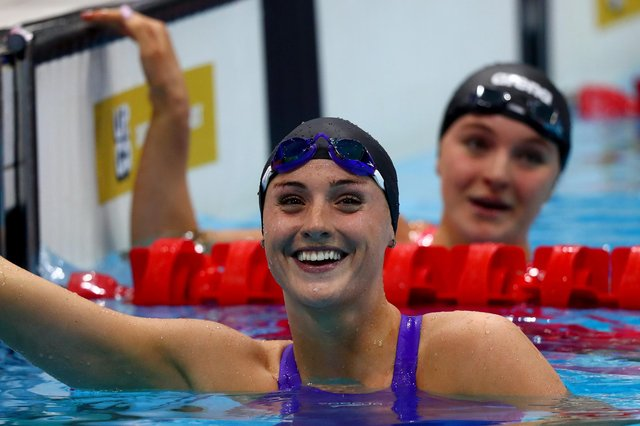 Mansfield's Molly Renshaw is all smiles after breaking her own British record at the Tokyo Olympics trials in London.