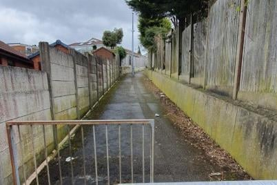 Police swooped on alleyways off Holly Road in Forest Town.