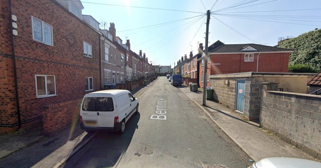 The officer was responding to reports of a fight in Bentinck Street, Mansfield (google)