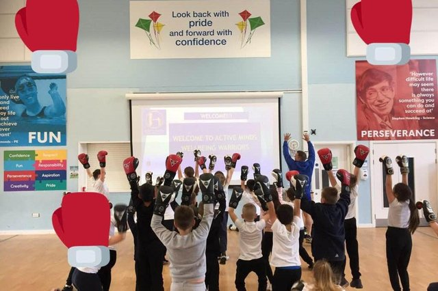 Youngsters in year four at Leamington Primary Academy in Sutton enjoying a Wellbeing Warriors session, run by Active Minds.