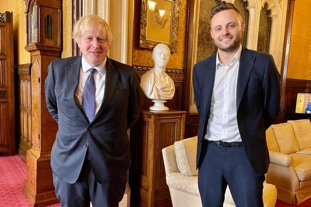 Prime Minister Boris Johnson and Mansfield MP Ben Bradley