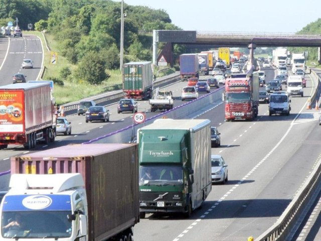 The M1 motorway. Picture for illustrative purposes only.