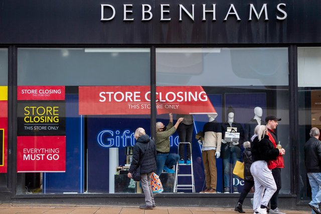 Debenhams will officially close in Mansfield on May 12. Photo by Anthony Devlin/Getty Images.